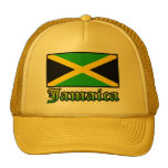 Bandera, negro, verde y amarillo de Jamaica Gorras