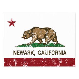 Bandera Newark del estado de California Postal