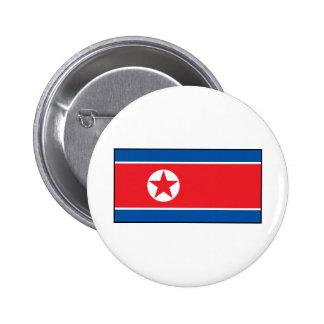 Bandera norcoreana chapa redonda de 5 cm