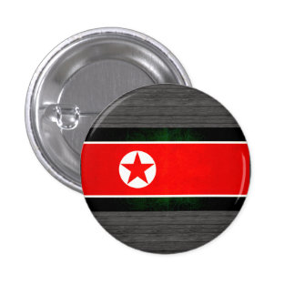 Bandera norcoreana nerviosa moderna chapa redonda 2,5 cm