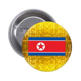 Bandera norcoreana oficial chapa redonda de 5 cm