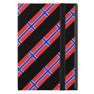 Bandera noruega de las rayas funda para iPad mini