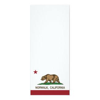 Bandera Norwalk del estado de California Invitación 10,1 X 23,5 Cm