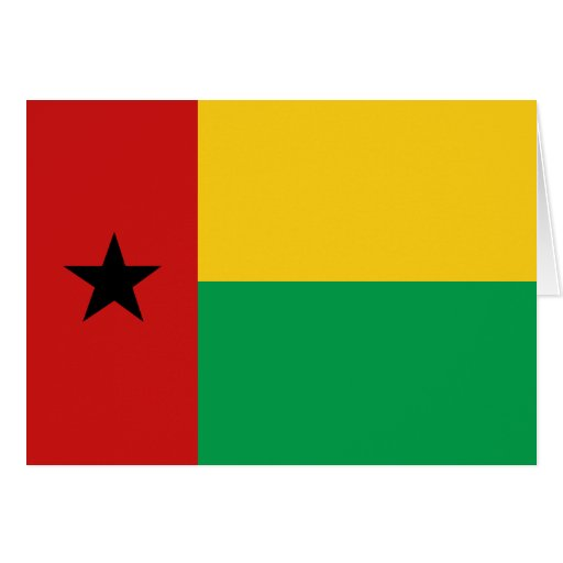 Bandera Notecard de Guinea-Bissau Tarjetón