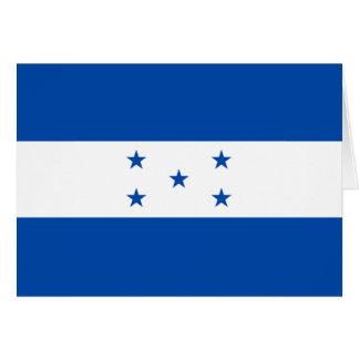 Bandera Notecard de Honduras Tarjeta Pequeña