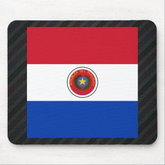 Bandera oficial de Paraguay en rayas Alfombrilla De Ratón