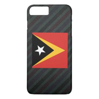 Bandera oficial de Timor Oriental en rayas Funda iPhone 7 Plus