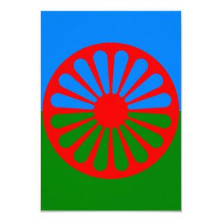 Bandera oficial del gitano del Romany Invitación 8,9 X 12,7 Cm