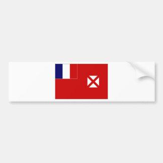 Bandera oficiosa local de Wallis Futuna Pegatina Para Coche