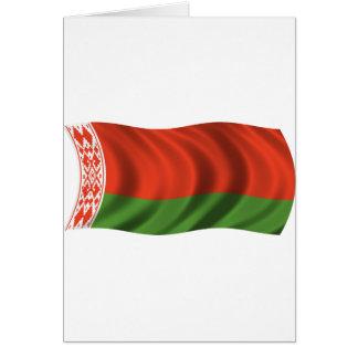 Bandera ondulada de Bielorrusia Tarjeta De Felicitación