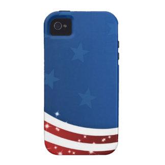 Bandera ondulada de USA SAD estrellas juegos de iPhone 4 Funda