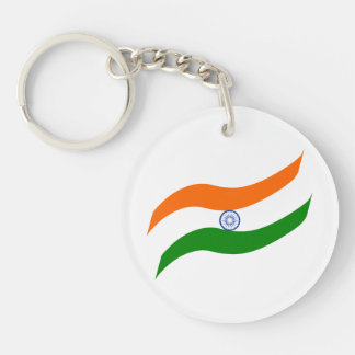 Bandera ondulada india llavero