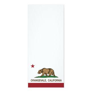 Bandera Orangevale del estado de California Invitación 10,1 X 23,5 Cm