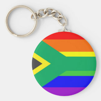 bandera orgullosa gay del arco iris de Suráfrica Llaveros Personalizados
