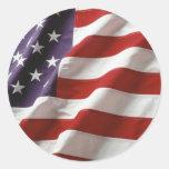 Bandera orgullosa y patriótica de los E.E.U.U. Etiquetas