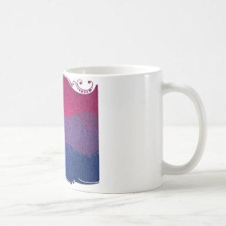 Bandera ornamental bisexual taza de café