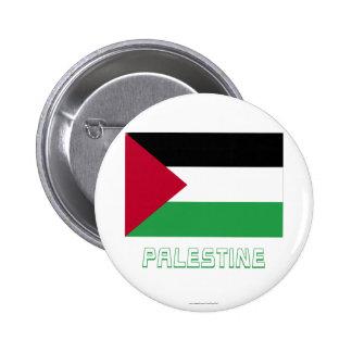 Bandera palestina del movimiento con nombre chapa redonda 5 cm