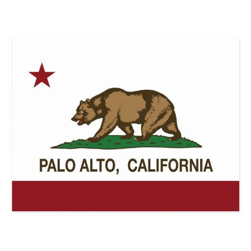 Bandera Palo Alto del estado de California Tarjeta Postal