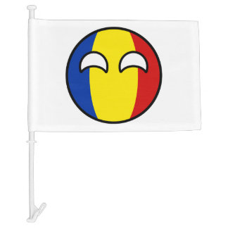 Bandera Para Coche Rumania Geeky que tiende divertida Countryball