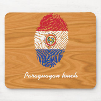 Bandera paraguaya de la huella dactilar del tacto alfombrilla de ratón