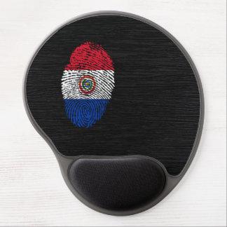 Bandera paraguaya de la huella dactilar del tacto alfombrilla de ratón de gel