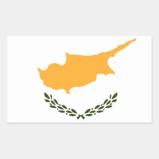 Bandera patriótica de Chipre Pegatina Rectangular