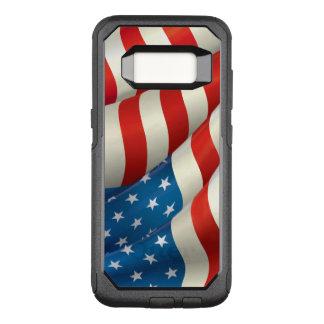 Bandera patriótica de los E.E.U.U. que agita Funda Commuter De OtterBox Para Samsung Galaxy S8