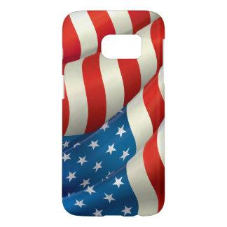 Bandera patriótica de los E.E.U.U. que agita Funda Samsung Galaxy S7
