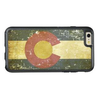 Bandera patriótica de papel gastada del estado de funda otterbox para iPhone 6/6s plus