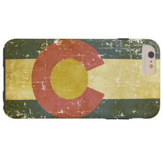 Bandera patriótica de papel gastada del estado de funda resistente iPhone 6 plus