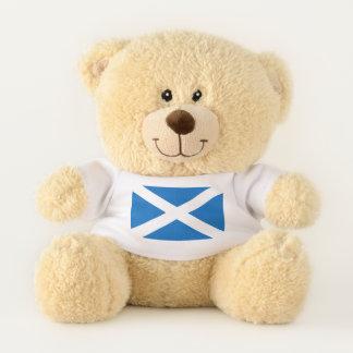 Bandera patriótica del oso de peluche de Escocia