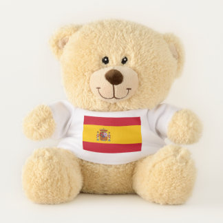 Bandera patriótica del oso de peluche de España