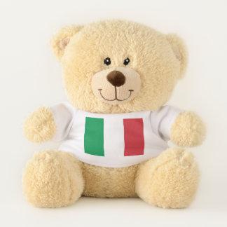 Bandera patriótica del oso de peluche de Italia