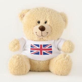 Bandera patriótica del oso de peluche de Reino