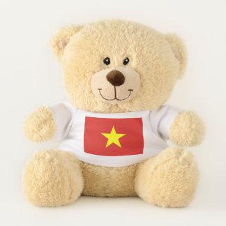 Bandera patriótica del oso de peluche de Vietnam