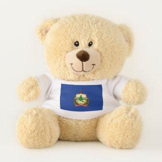 Bandera patriótica del oso de peluche del estado