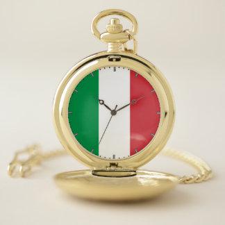 Bandera patriótica del reloj de bolsillo de Italia