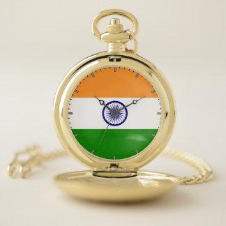 Bandera patriótica del reloj de bolsillo de la