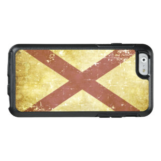 Bandera patriótica gastada del estado de Alabama Funda Otterbox Para iPhone 6/6s