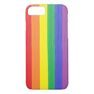 Bandera pintada del arco iris funda iPhone 7