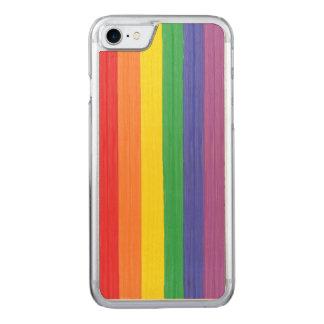 Bandera pintada del arco iris funda para iPhone 7 de carved