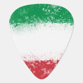 Bandera pintada salpicadura del Grunge de Italia Uñeta De Guitarra