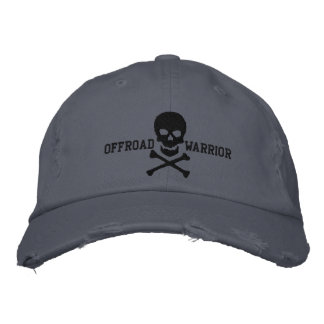 Bandera pirata grande del cráneo del guerrero gorra de beisbol