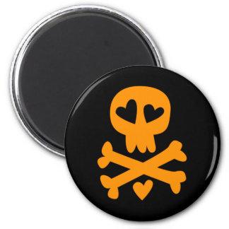 Bandera pirata Halloween del cráneo Imanes