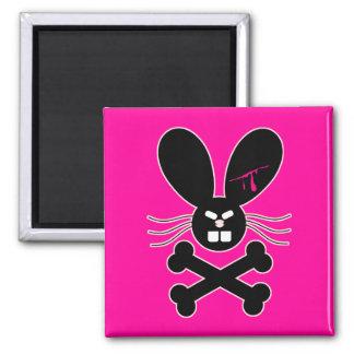 Bandera pirata malvada del conejito de Emo Iman De Frigorífico