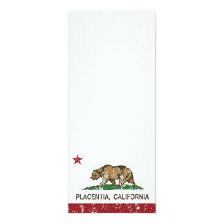 Bandera Placentia del estado de California Invitación 10,1 X 23,5 Cm