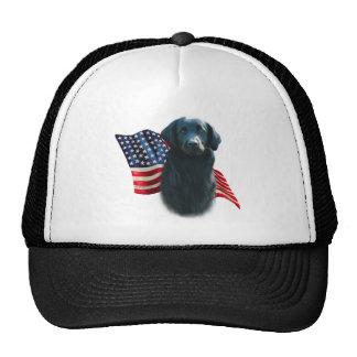 Bandera Plano-Revestida del perro perdiguero Gorras