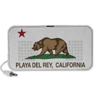 Bandera Playa del Rey de la república de Californi Altavoz