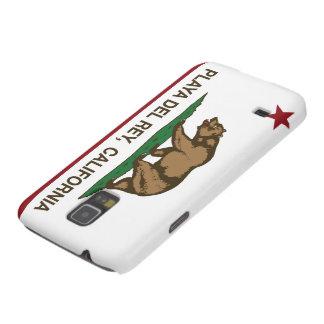 Bandera Playa del Rey de la república de Californi Carcasas De Galaxy S5