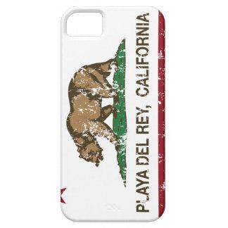 Bandera Playa del Rey de la república de Californi iPhone 5 Fundas
